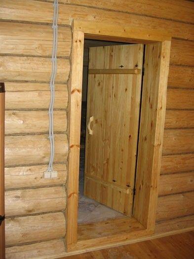 Входные двери в баню своими руками видео